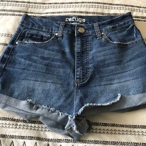 Denim cheeky shorts